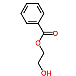 2-hydroxyethyl benzoate结构式